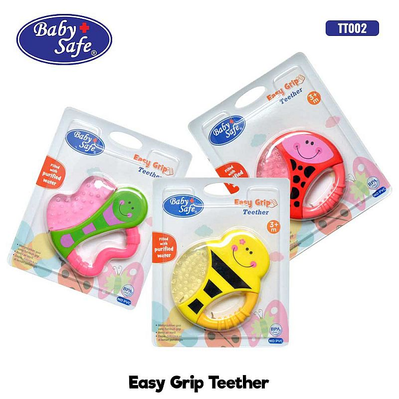 Baby Safe Easy Grip Cooling Teether Gigitan Bayi TT002