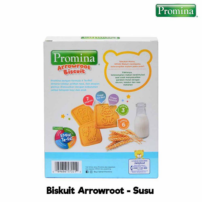 Promina Biskuit Arrowroot Biskuit Bayi 1th 110 gr